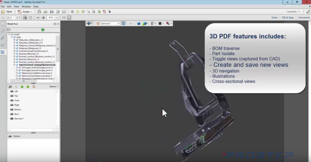 ENOVIA 3D PDF Demo with 3D PDF Export Demo