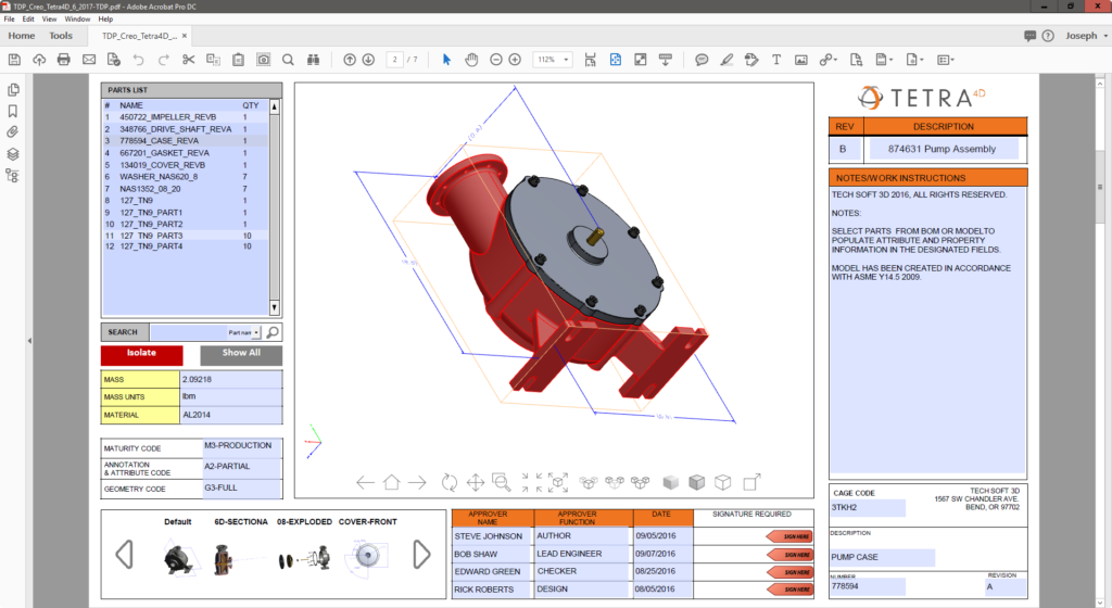 Download 3D PDF Technical Data Package