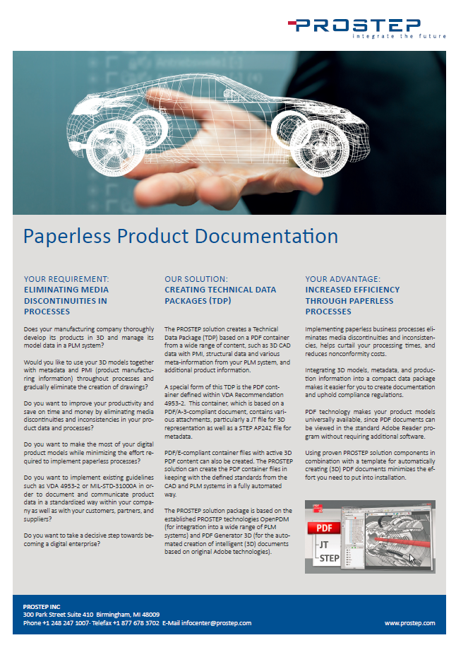​Paperless Product Documentation with Technical Data Packages Information Sheet