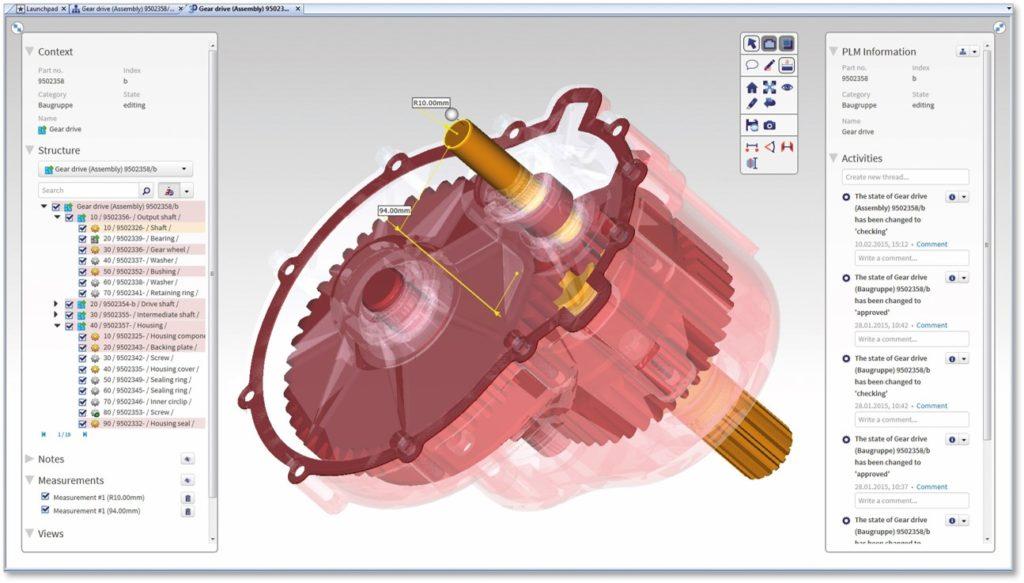 OpenPDM CCenter 3D Model Visualization