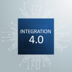 Industrie 4.0 Futuristic Processor Circuit Board Infographic