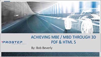 MBE MBD 3D PDF HTML5