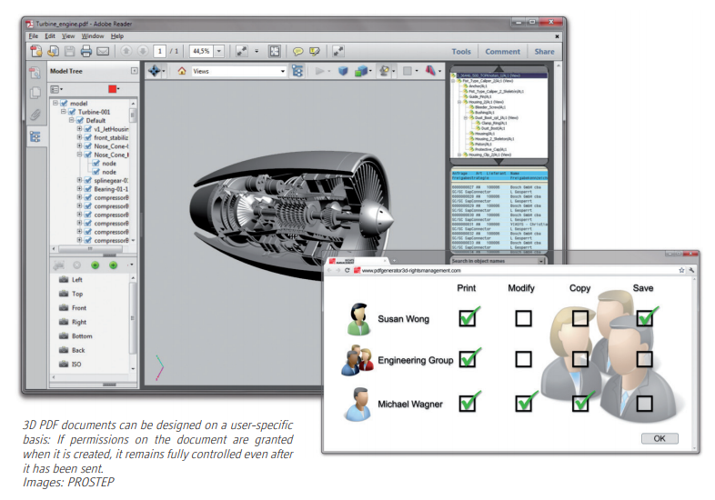 3D PDF Permissions