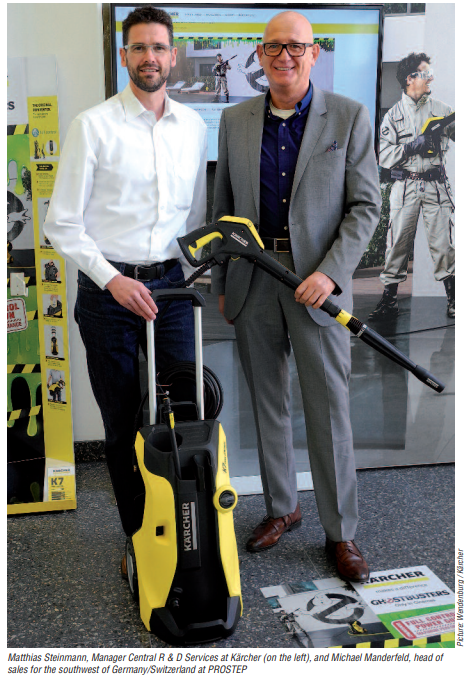 Matthias Steinmann - Manager Central R&D Services at Karcher (left( and Michael Manderfeld, Head of Sales for Southwest Germany/Switzerland at PROSTEP